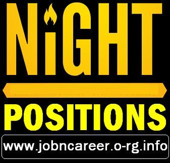 Night PART TIME Positions (Staff Required)