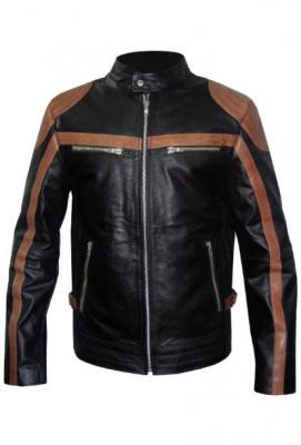 New Men Motorbike Leather Jacket