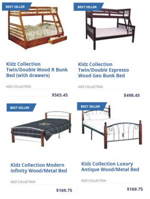 Kidz Collection Twin/Double Wood R Bunk Bed (with drawers) | Worldwide Mattress Outlet
