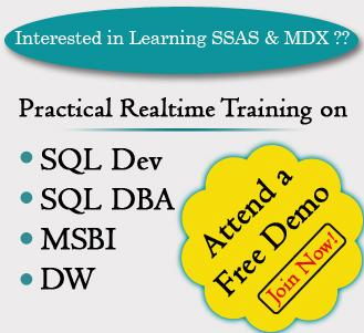 Complete Practical Training on BI (SSAS) @ SQL School