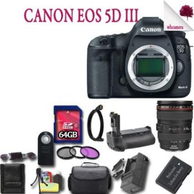 Canon EOS-5D Mark III Digital SLR Camera Kit with Canon EF 24-105mm F4L IS USM Lens Kit