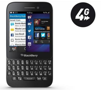 BLACKBERRY Q5 black (Silver-67013)