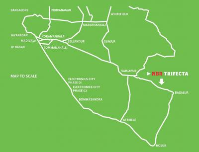 Plots available in NBR Trifecta for Rs.1100 per sq.feet, call - 8088678678