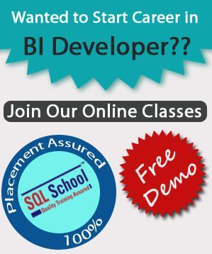 Best practical Online Training on SQL BI (SSIS, SSAS, SSRS) at SQL School