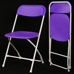 Folding-chairs-tables-discount.com - Hot Purple Poly Folding Chair