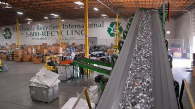Corporate electronic recycling Center