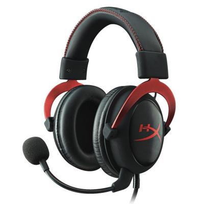 Kingston HyperX Cloud II Headset - Surround - Red - Mini-phone - Wired - 60 Ohm