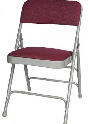 Burgundy Fabric Metal Folding Chairs - larry hoffman