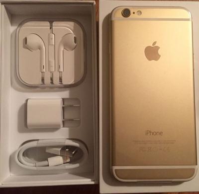 For sale new Apple iPhone 6 16gb GOLD $300 bonanza price with guarantee