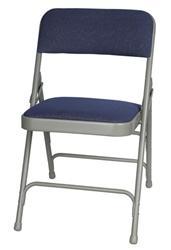 Blue Fabric Metal Chair - Larry Hoffman