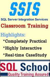 MSBI WITH SSIS WEEKEND CLASSROOM TRAINING at SQL School
