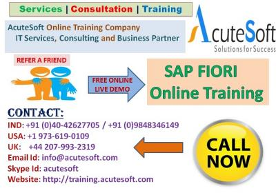 SAP FIORI Online training