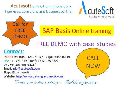 SAP Basis Training by AcuteSoft with 10+ years SMEs.