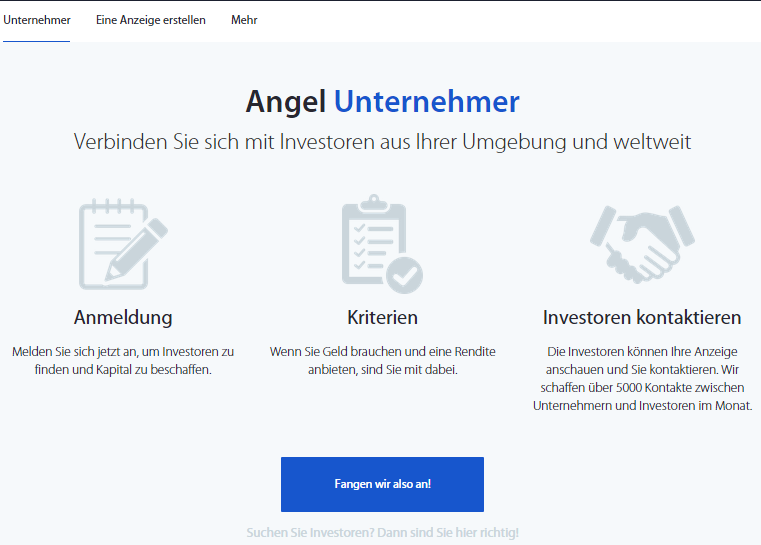 If you're an entrepreneur and need funding for investment in Germany.