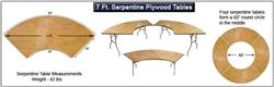 Serpentine Plywood Folding Table