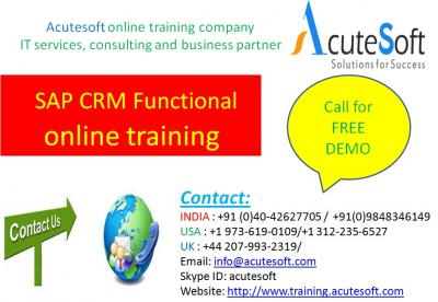 SAP CRM Functional  Online Training with Project Case Studies-AcuteSoft