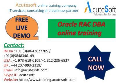 Oracle RAC DBA Training by AcuteSoft with 10+ years SMEs.