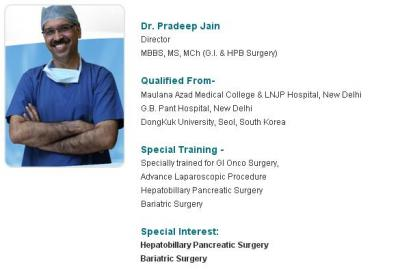 Dr Pradeep Jain - Best GI Surgeon In India