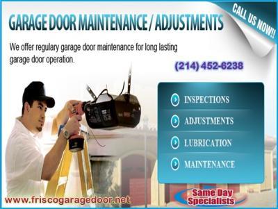 1 hour Urgent Garage Door Repair Services   Frisco 75034 TX   $25.95