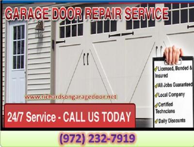 Expert Garage Door Repair Technicians in Richardson 75081 TX | $25.95