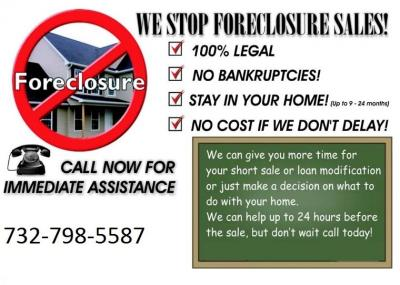 Stop Foreclosure or Eviction NOW!! Don't hesitate, Act Now!