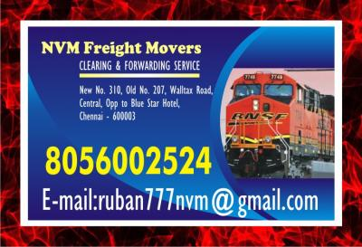 No. one NVM freight Movers in Chennai Freight Movers | 940 | Rs 7/-  per KG