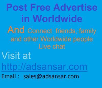 Post Free Advertise in Worldwide restaurants & coffee shops