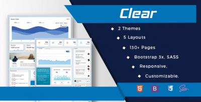 Bootstrap Admin Template - Clear