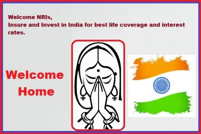 NRI Insurance-Get Life Time Guaranteed 8% Returns
