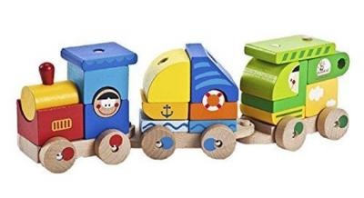 Wooden Train Set - Toddler's Stacking Cargo Train