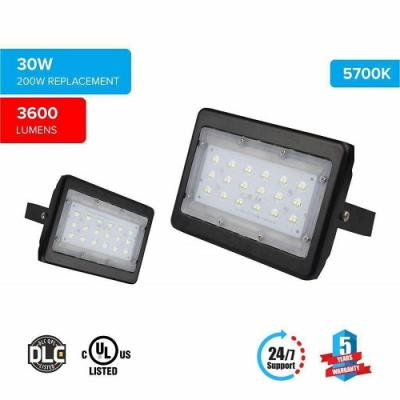 LED Flood Light 30 Watt 5700K Black Finish ($29.45