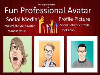 I will do any fun professional avatar