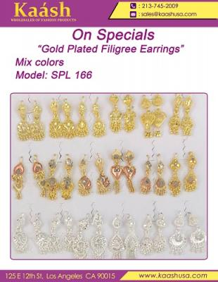 Gold Plated Filigree Earring