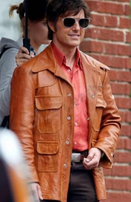 Tom Cruise American Made Barry Seal leather Jacket