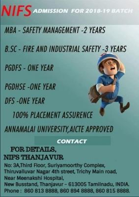 HEALTH SAFETY  ENVIRONMENT COURSE IN THANJAVUR