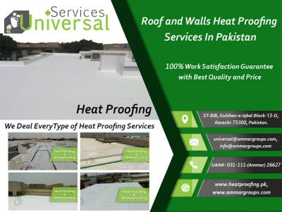 Heat Proofing For Roof and Walls Services in PAK.