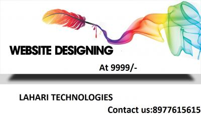 create website at 9999/- only Lahari technologies