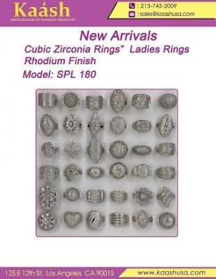 "New Arrivals  Sizes: 7-9  Rhodium Finish  ""Cubic Z"