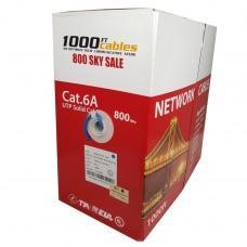 Cat6A Plenum 1000FT CMP Bulk Cable Solid Copper UL