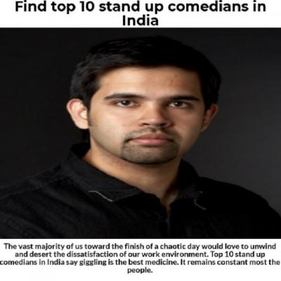 Find top 10 stand up comedians in india
