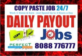 Daily  Cash payment copy paste Job earn from home
