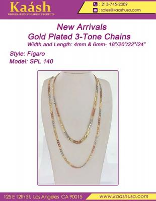 Gold Plated 3 Tone Chains
