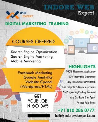 Digital Marketing on Job Training in Ranchi