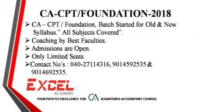 CA-CPT/Foundation Coaching by Best Faculties.