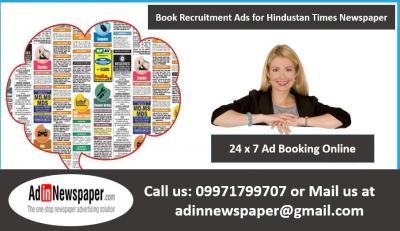 Hindustan Times Appointment Display Advertisement