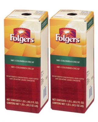 FOLGERS 1.25 LITER 100% COLOMBIAN DECAF (TWO)