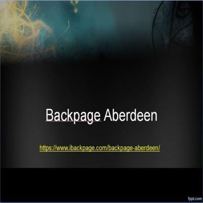 Backpage Aberdeen