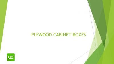 Plywood Cabinet Box Parts