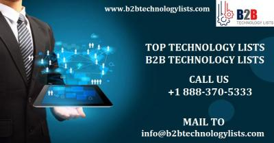 Top Technology Lists - Technology Site Count- B2B