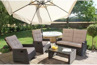 Garden Sofa Set - Reclining Sofa Set